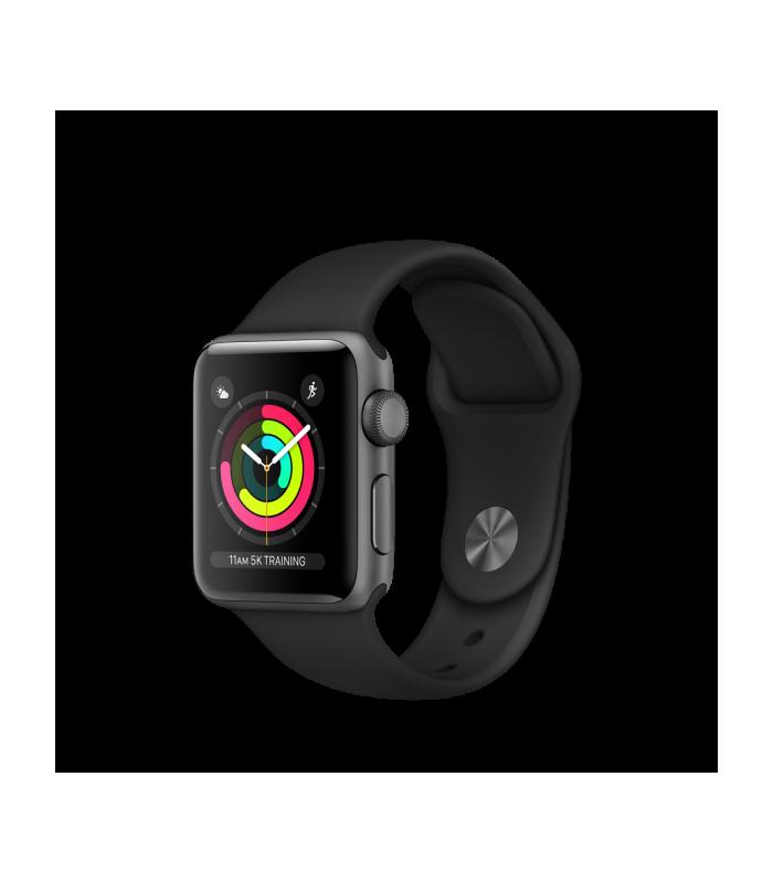 ساعت هوشمند اپل واچ سری ۳ - Apple Watch Series 3 Space Gray 38mm Black