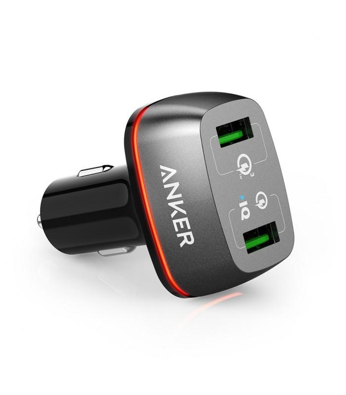 شارژر فندکی انکر مدل PowerDrive+ 2 Ports A2224