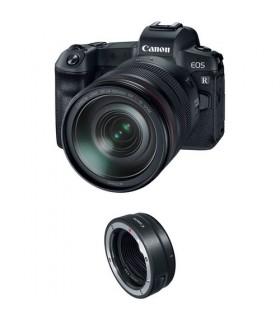 دوربین بدون آینه کانن مدل Canon EOS R به همراه لنز EF 24-105mm و مبدل EF-EOS R
