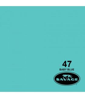 فون کاغذی SAVAGE کد رنگی Baby Blue 47-12