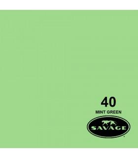 فون کاغذی SAVAGE کد رنگی Mint Green 40-12