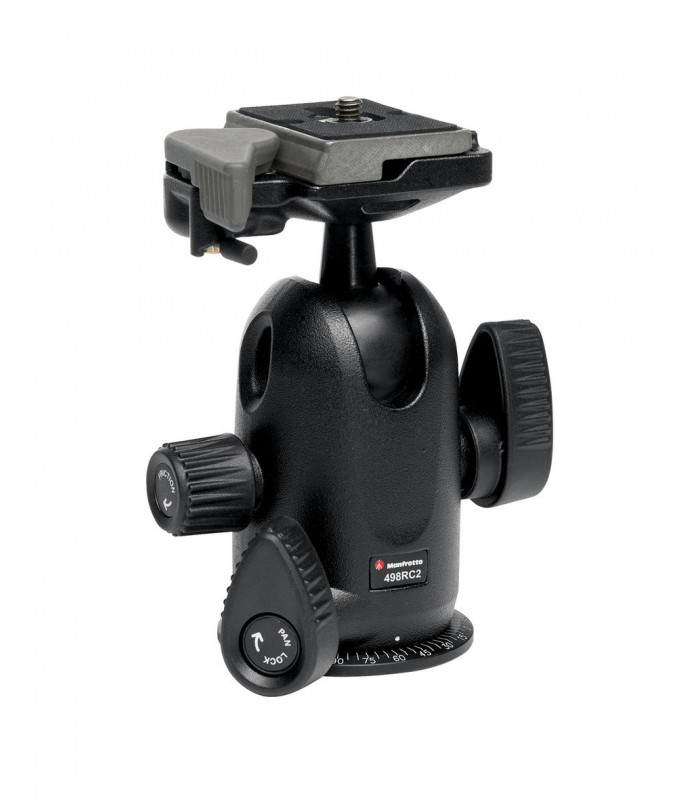 Manfrotto MIDI BALL HEAD WITH RC2 RAPID CONNECT SYSTEM-498RC2