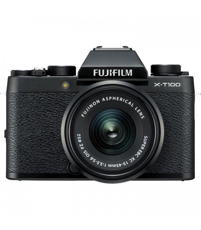 دوربین دیجیتال بدون آینه Fujifilm مدل X-T100 همراه لنز ۴۵-۱۵ میلیمتر