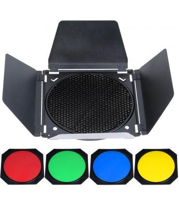 کیت شیدر و زنبوری گودوکس مدل Godox BD-04 همراه با ۴ فیلتر رنگی