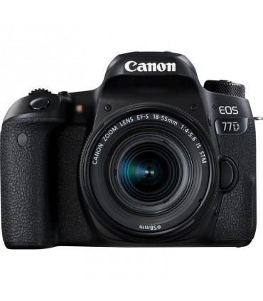 دوربین دیجیتال دست دوم کانن مدل 77D همراه با لنز EF-S 18-55mm IS STM