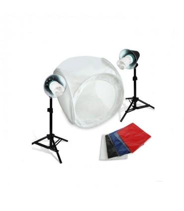 کیت خیمه ۴۰×۴۰ همراه با نور ثابت کم مصرف و پایه دوربین