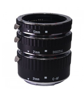 Phottix 3 Ring Auto-Focus AF Macro Extension Tube for Canon (Metal)