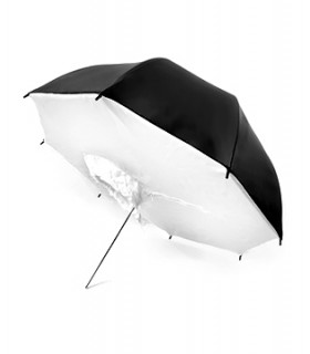 Umbrella-Soft Box Dual Layer Black-White