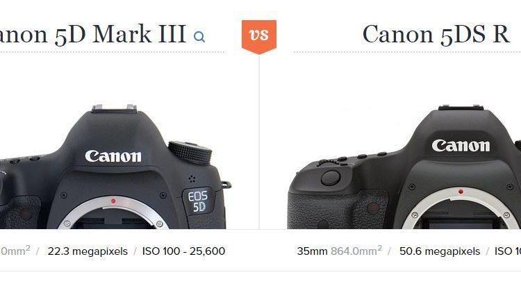 مقایسه 5Ds/5Dsr و 5D Mark III