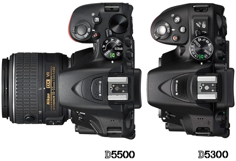 Nikon-D5300-vs-D5500-body-size