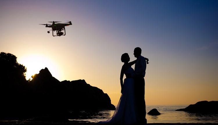تصویربرداری هوایی، استفاده از درونها در تصویربرداری عروسی
