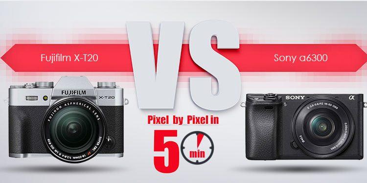 Sony a6300 در برابر Fujifilm X-T20