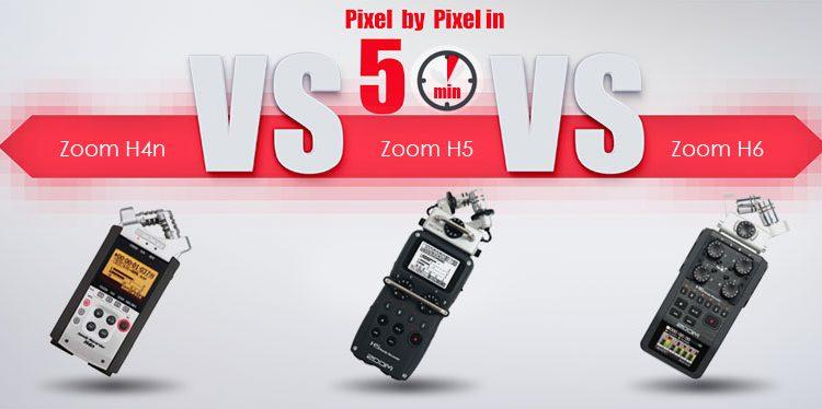 قسمت دوم: مقایسه رکوردر Zoom H4n و Zoom H5 و Zoom H6