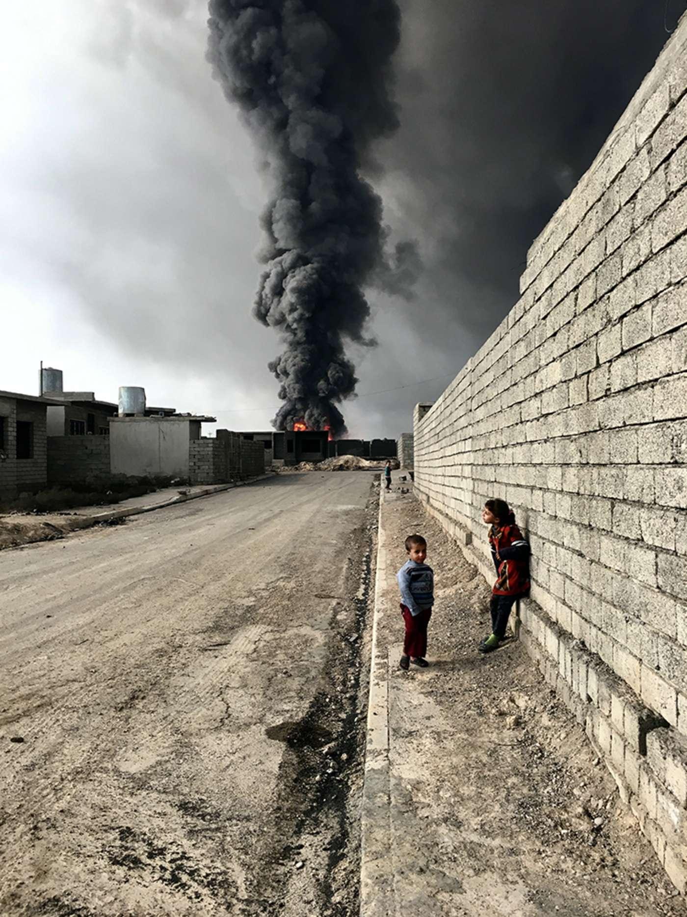 عکسی از کودکان قیاره عراق