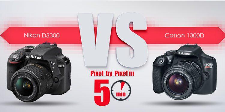 Canon 1300D در برابر Nikon D3300