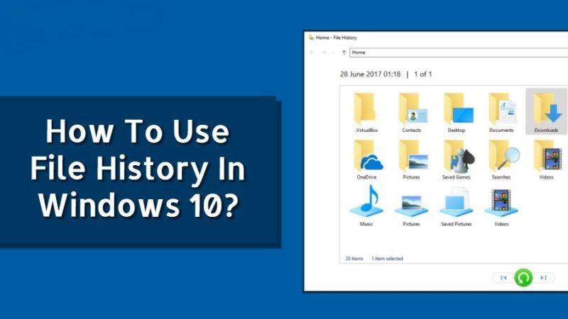 File History در ویندوز