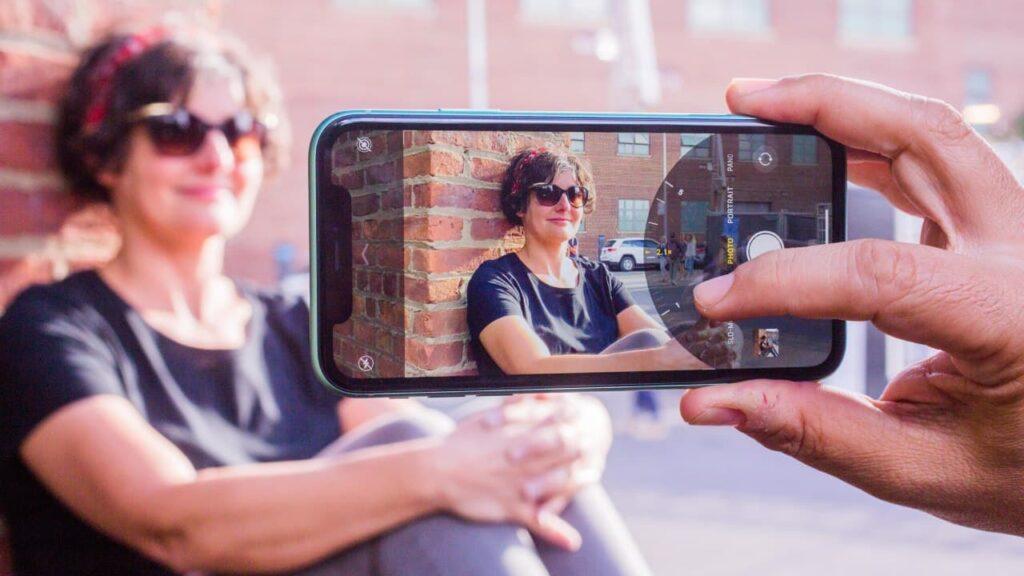 کادربندی در پرتره موبایل
